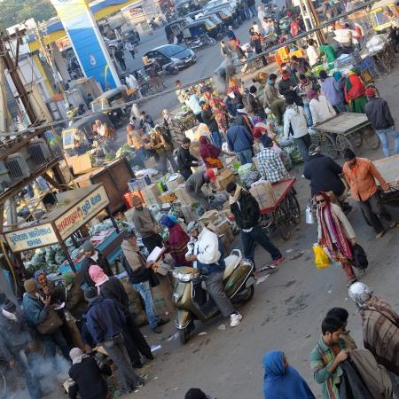 A Bhuj market place